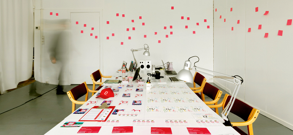 Office space during exhibition